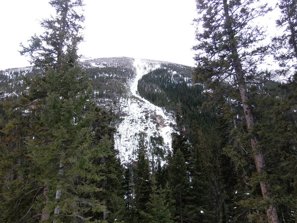 2015-01-10 Avalanche chute off Old Fall River Road