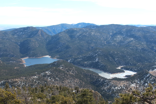 2015-01-25 Ralph Price Reservoir from Button Rock Mtn south summit