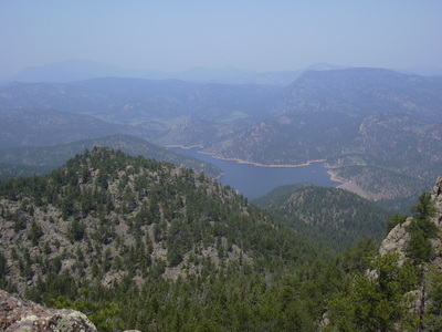 2012-05-26 Button Rock Reservoir from Coffintop Mtn summit