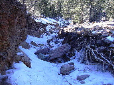 2013-12-16 Washed out gulley on North Sheep Mtn