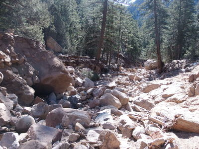 2014-03-16 Washed out gulch near Hwy 7 marker 25