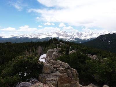 2014-06-01 Mt Audubon from summit of 10583