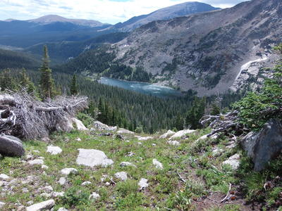2014-09-07 Thunder Lake from Fan Falls area