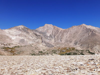 2014-09-20 Pagoda, Longs, and Meeker from North Ridge