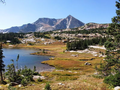 2014-09-20 Lion Lake #1 with Mt Alice