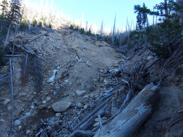 2014-11-01 Landslide over Calypso Cascades Trail