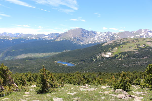 2015-07-12 Sandbeach Lake from Mt Meeker