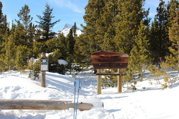 2016-01-03 Indian Peaks Wilderness sign at Coney Flats