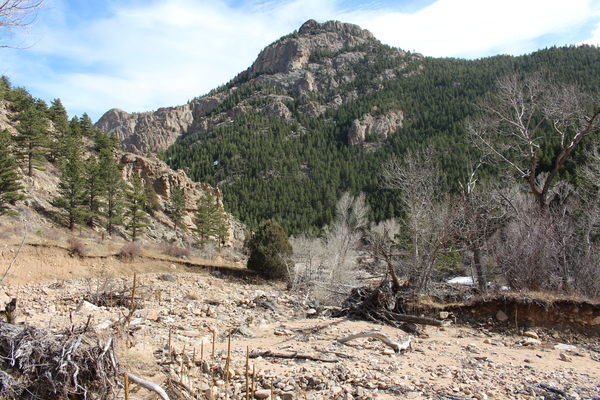 2016-03-12 South Sheep Mtn with North St Vrain Creek flood damage