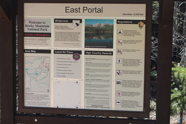 2018-08-27 Adams Tunnel East Portal Trailhead sign