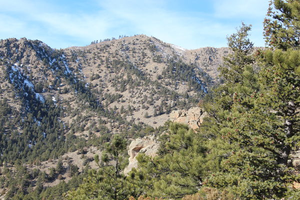 2019-12-20 Golden Age Hill from trail in Lefthand OHV area