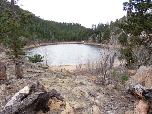 2020-04-11 Unamed Lake 7467 near Dry St Vrain Trail