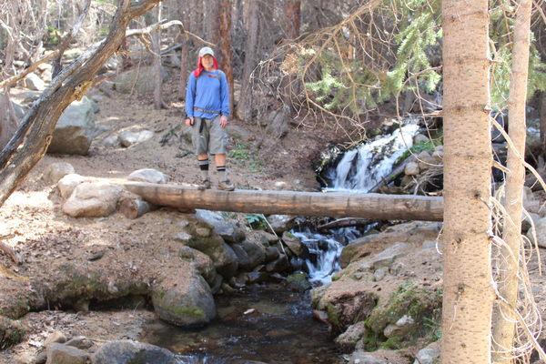2020-09-29 Stefan on bridge over Boulder Brook
